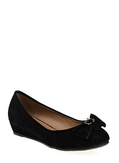 Ves Ves Deri Siyah Düz Ayakkabı Siyah